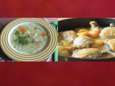 Sváteční oběd 20  Kuřecí polévka a Kuře s meruňkami