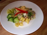 Noky s brokolicí, nivou, šunkou a smetanou recept