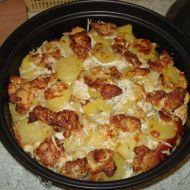 Zapečené kuřecí maso s nivou a smetanou recept