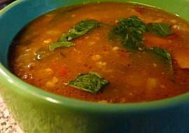 Novoroční polévka s jáhlami a cizrnou recept