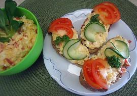Chlebíčky s celerovým salátem recept