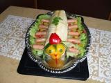 Slaný dort  stonožka recept