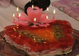 Nepečený dort k 1.narozeninám recept