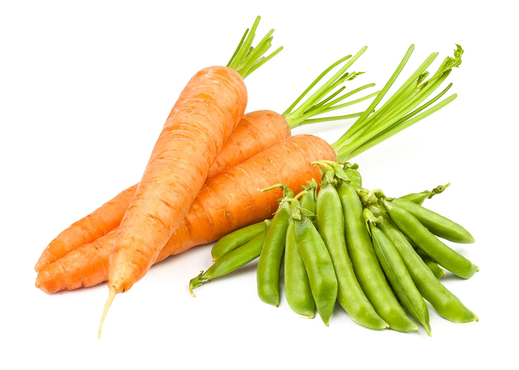 Dušená mrkev s hráškem recept