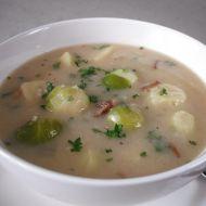 Bramborová polévka s kapustičkami recept