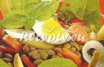 Čočkový salát se zeleninou recept  saláty