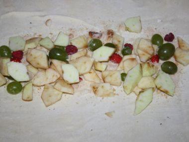 Ovocný závin s pudinkem
