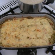 Zapečené brambory s brokolicí a nivou recept