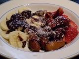 Ovoce v čokoládě ala fondue  vegan recept