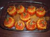Plněná rajčata (bez masa) recept