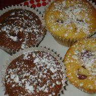 Malinové muffiny dvou chutí recept
