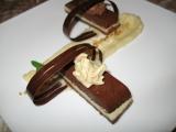 Ledová čokoládová terina s jablkovým pyré recept