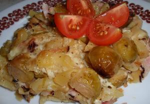 Brambory nebo těstoviny zapečené (nejen) s růžičkovou kapustou ...