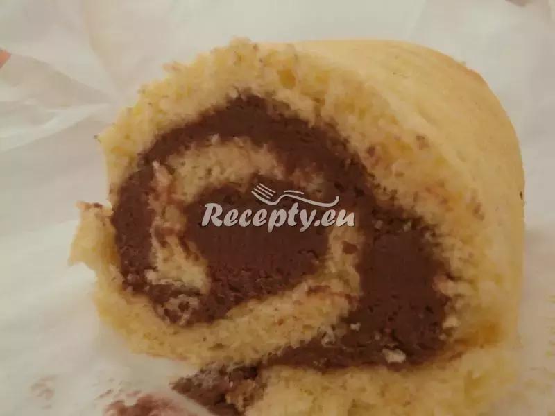 Piškotová roláda s kakaovým krémem recept  moučníky