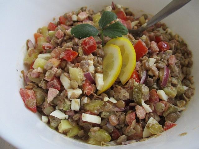 Studený čočkový salát recept