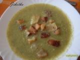 Brokolicová polévka s krutony recept