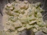 Zeleninový salát s cottage sýrem a hořčicí recept