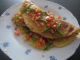 Těstovinová omeleta recept