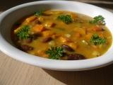 Dýňová polévka s fazolemi recept