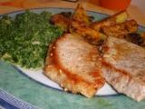 Vepřové maso se špenátem a americkými bramborami recept ...