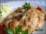 Kuřecí plátky se smetanovou zeleninou recept