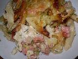 Zapečené bramboro-těstoviny s brokolicí recept