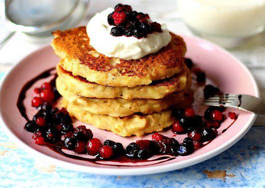Pohankové lívance s jablky a skořicí recept