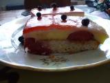 Ovocné řezy s vanil. krémem a želatinou recept