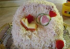 Slaný dortík aneb vzpomínka na chlupatý přehoz z dětství :o ...