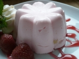 Nepečené tvarohové bábovičky s jahodami recept