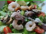 Zeleninový salát s mořskými plody recept