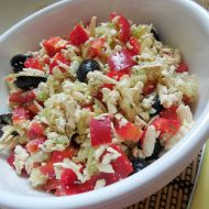 Okurkovo-paprikový salát s tofu recept
