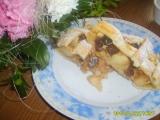 Mřížkový koláč bez vajec s jablky a ananasem recept