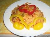 Zapečené špagety s lečem recept
