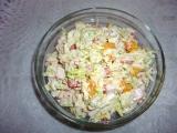 Surimi salát se zelím a mandarinkami recept