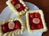 Sváteční ovocný řez recept