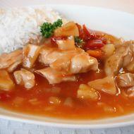 Sladko-kyselé kuře s rýží recept