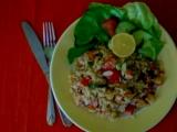 Paella z krabích tyčinek recept