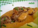 Panenkové medailonky v oranžové omáčce recept