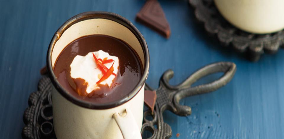 Churros s ostrou horkou čokoládou