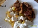 Gyros s česnekovým dresinkem recept