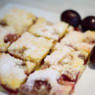 Drobenkový koláč se švestkami recept