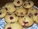 Vanilkové muffiny s malinami recept