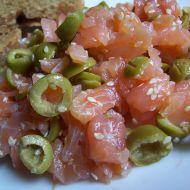 Uzený losos s olivami recept