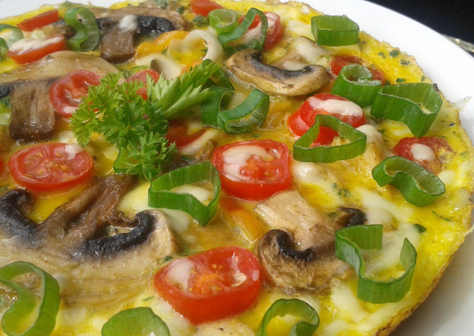 Žampionovo-kuřecí omeleta recept