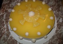 Dort piña colada (kokosovo ananasový) recept