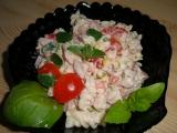 Sýrový salát s těstovinovou rýží recept
