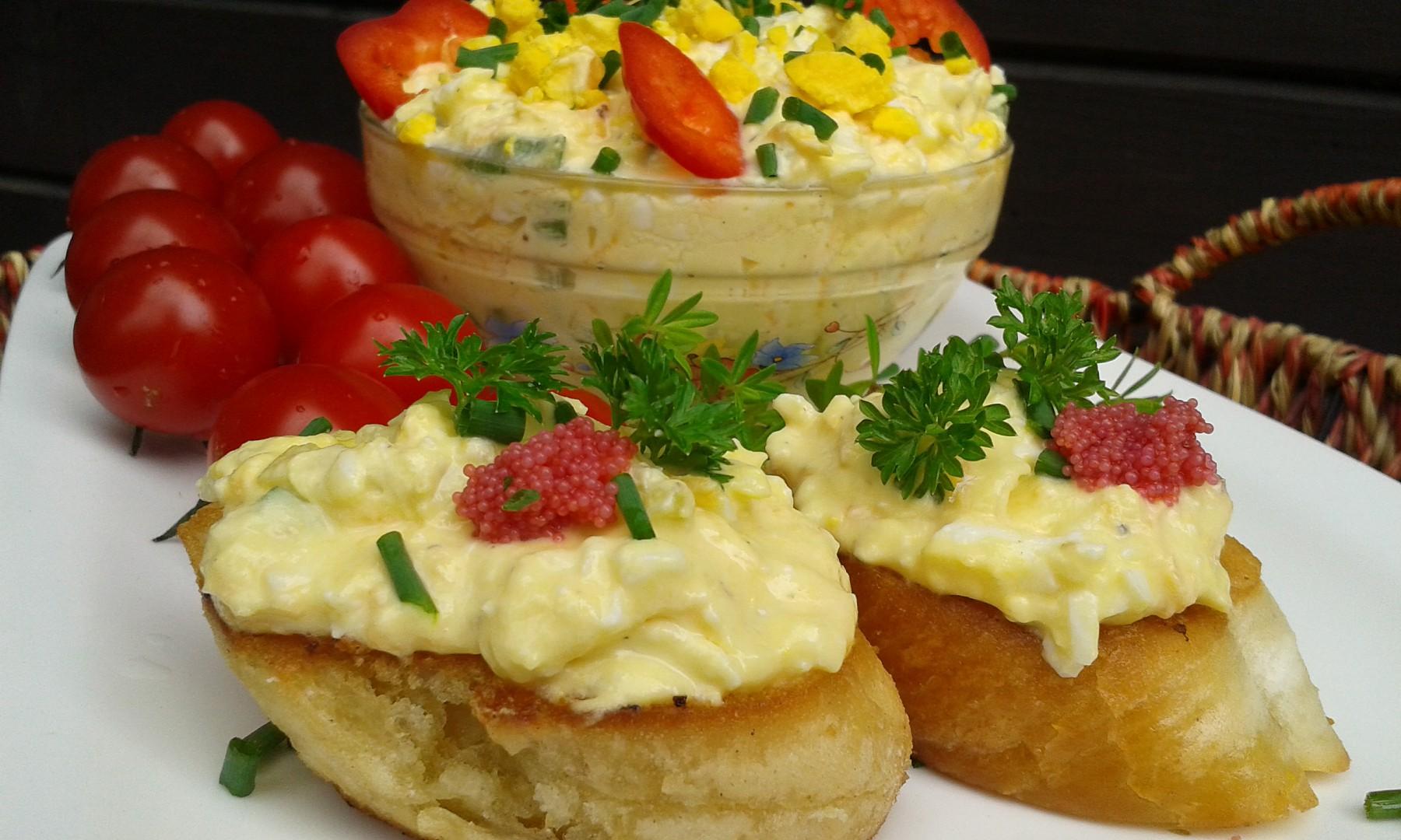 Vajíčková pomazánka s mrkví recept