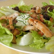 Kuřecí salát s wasabi dresinkem recept