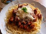 Mišmaš na špagety ze sojového masa recept